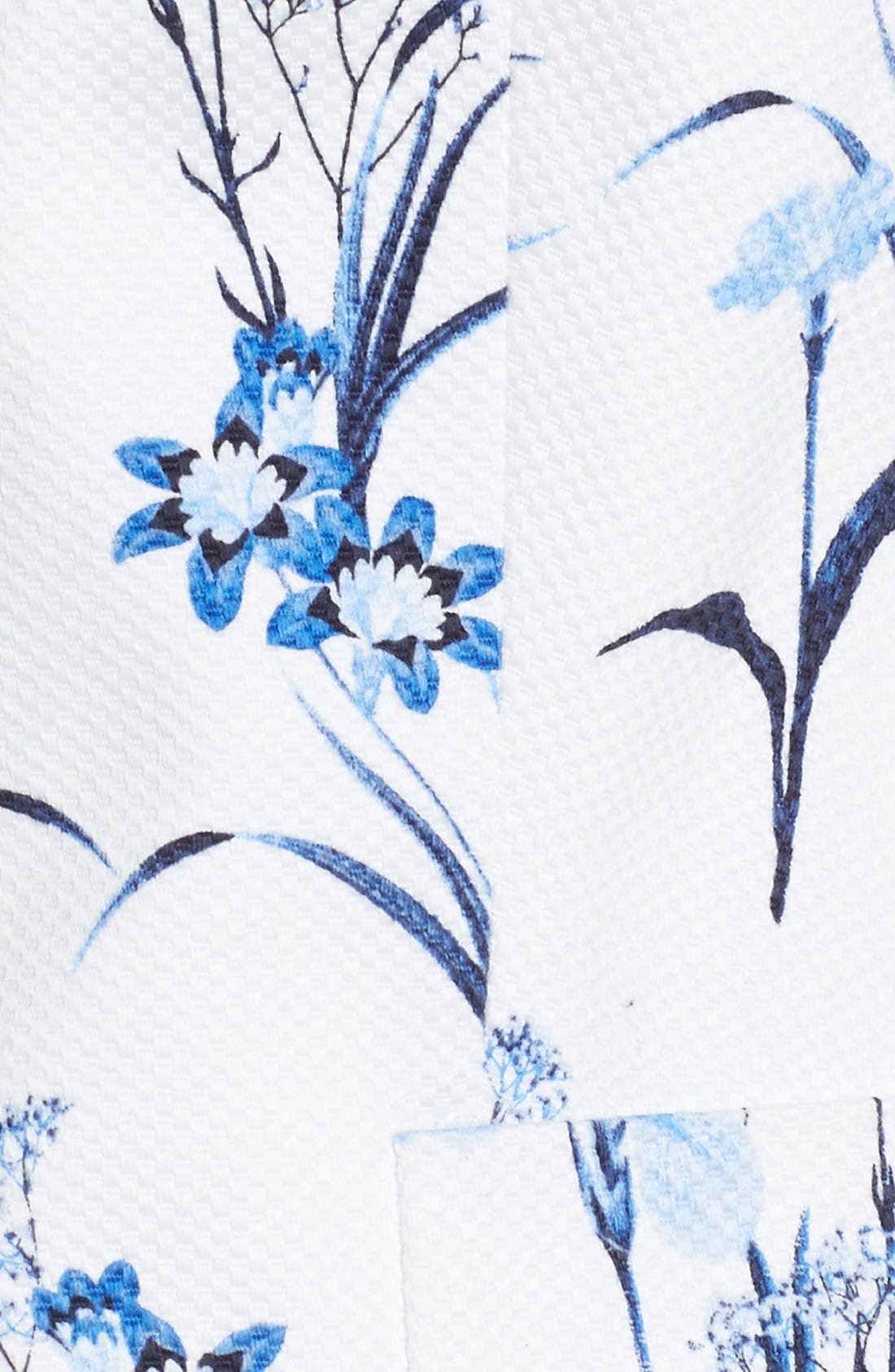 by Cynthia Steffe 'Tulum Bouquet' Floral Print Pique Blazer,                             Alternate thumbnail 6, color,                             Stone Blue