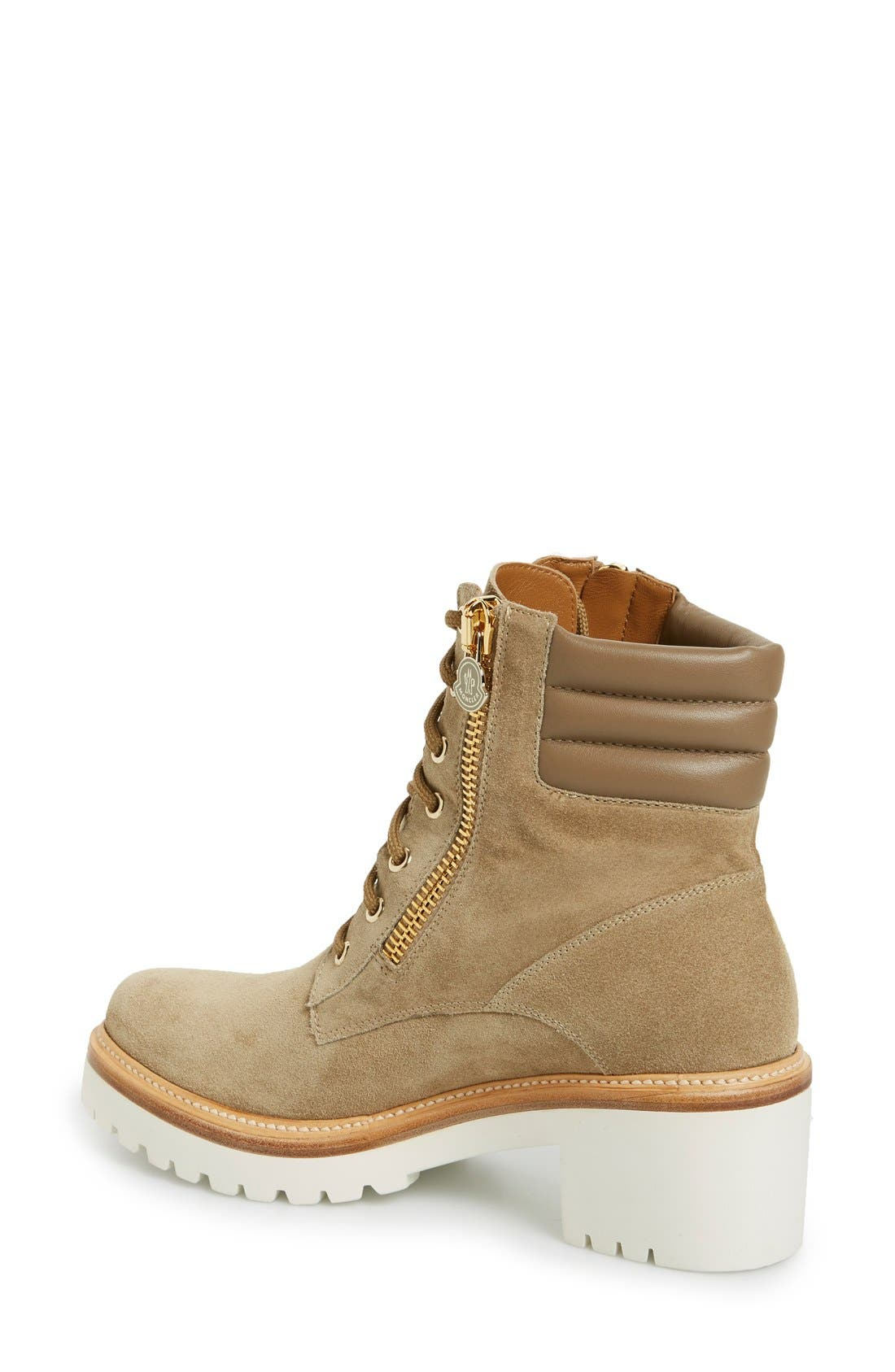 'Viviane' Hiker Boot,                             Alternate thumbnail 2, color,                             Brown Suede Calfskin