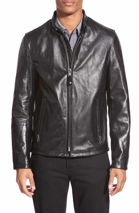 f4270dbfc865 Schott NYC Café Racer Waxy Cowhide Leather Jacket