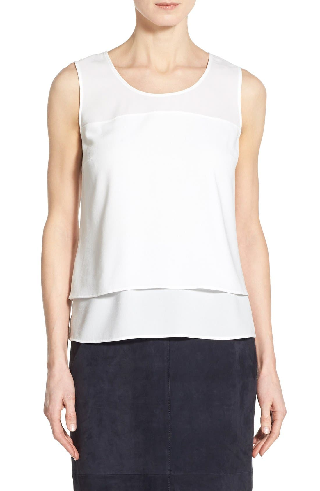 BOSS Isallia High/Low Hem Double Layer Tank