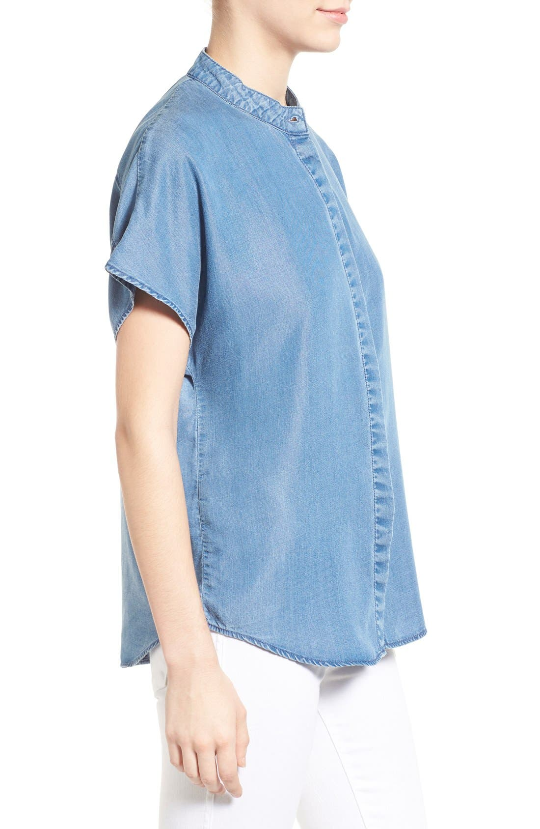 Alternate Image 3  - KENDALL + KYLIE Keyhole Back Chambray Top
