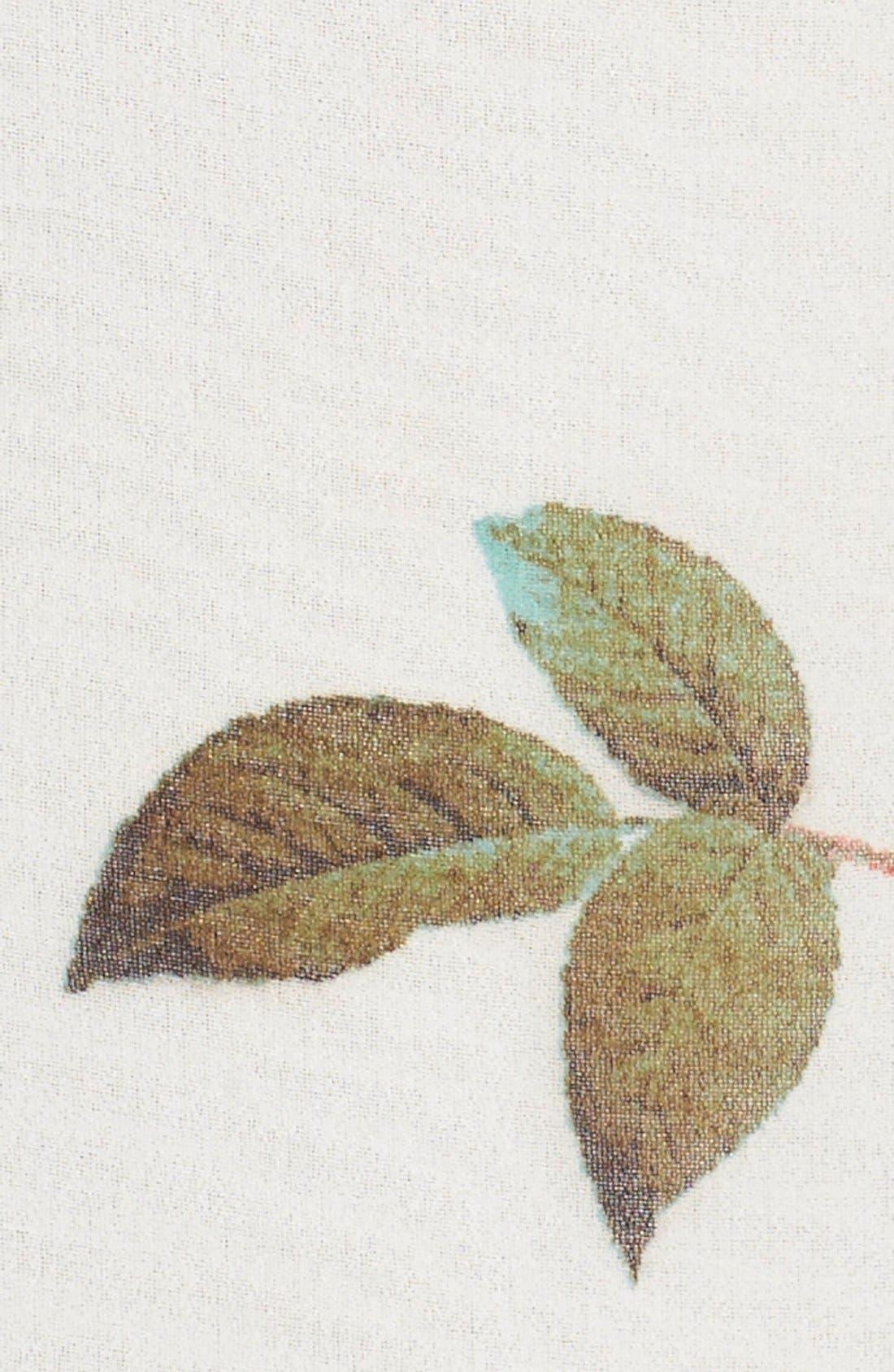 Alternate Image 5  - Adrianna Papell Floral Print Asymmetrical Chiffon Blouse