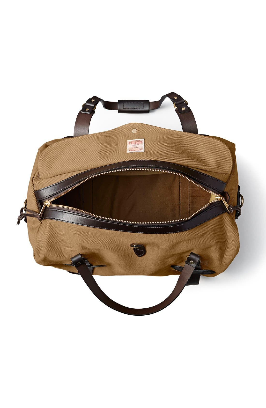 Medium Duffel Bag,                             Alternate thumbnail 3, color,                             Tan