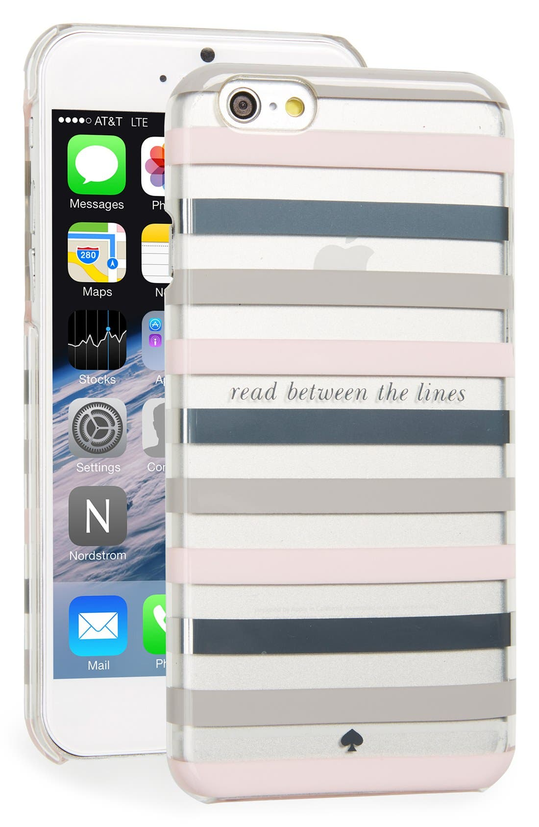 Alternate Image 1 Selected - kate spade new york 'read between the lines' iPhone 6 & 6s case