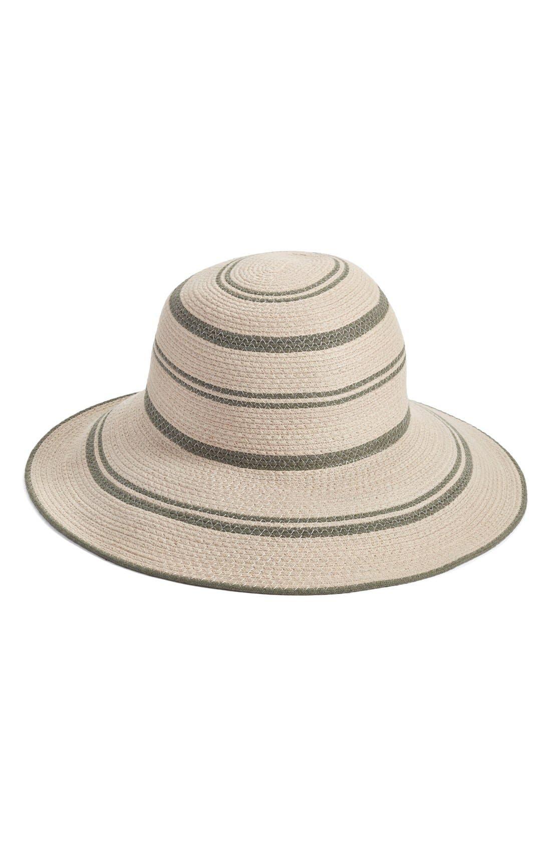 Main Image - Caslon® Woven Stripe Sun Hat