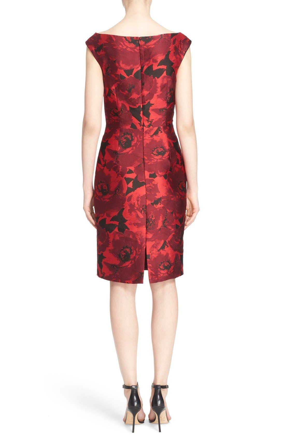 Alternate Image 2  - St. John Collection 'Ombré Peony' Jacquard Sheath Dress