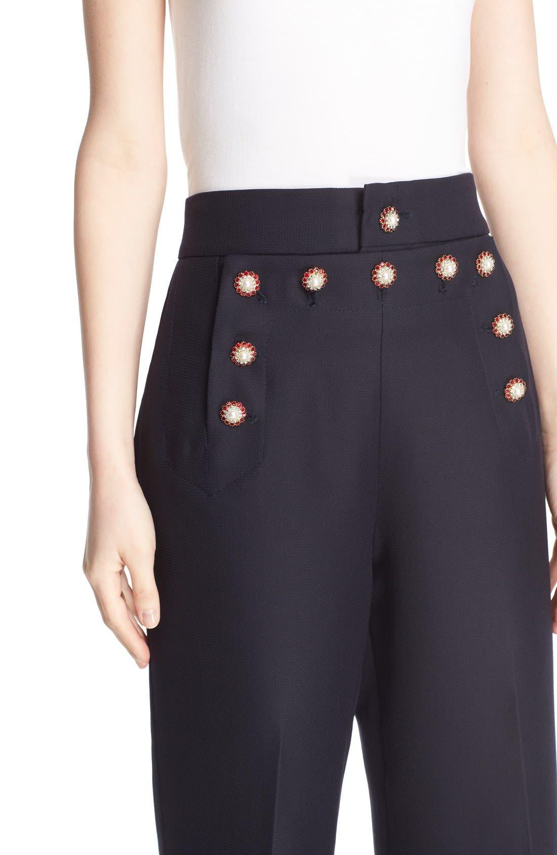 Alternate Image 7  - MARC JACOBS Wool & Silk Crop Sailor Pants