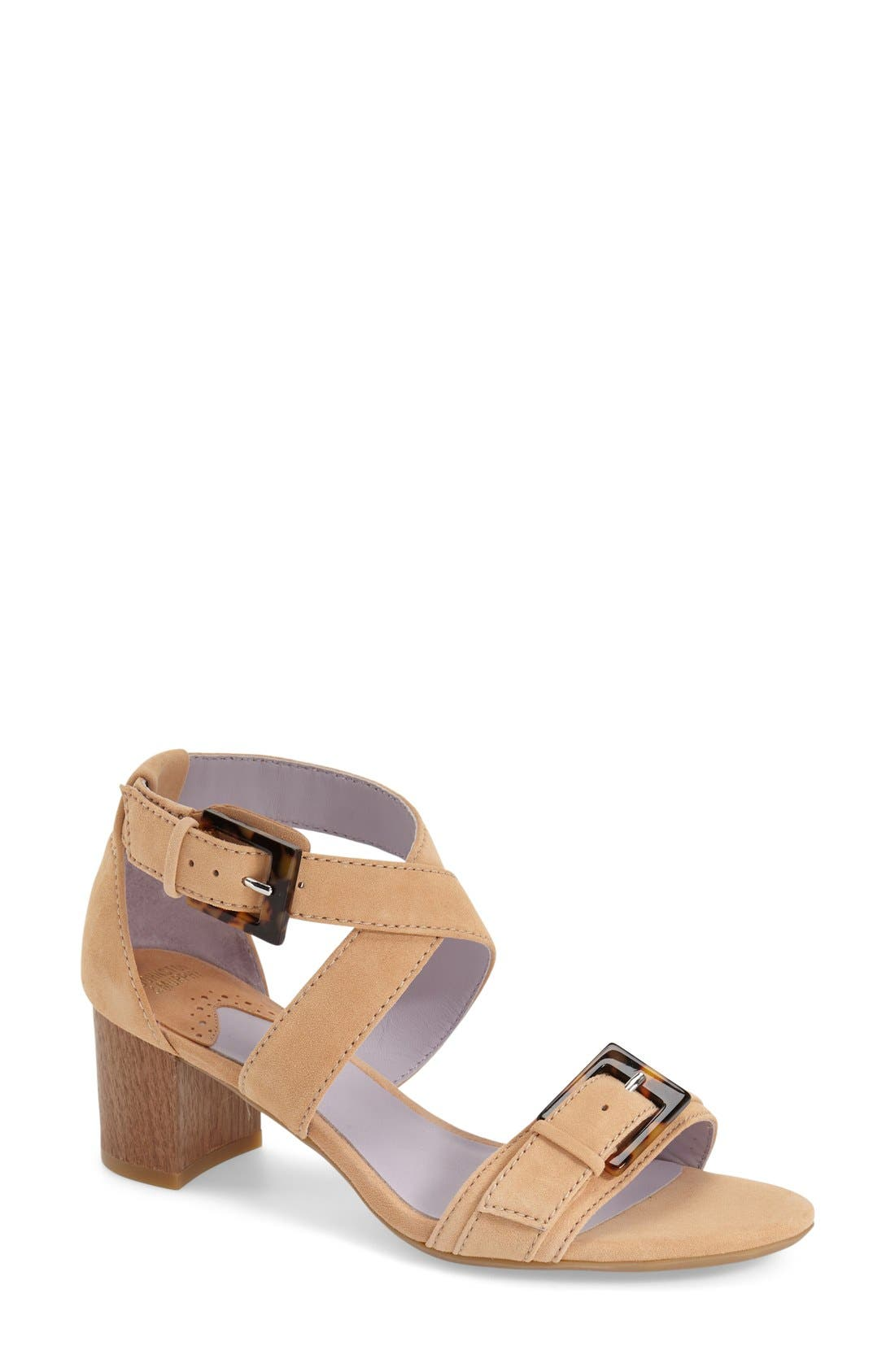 Alternate Image 1 Selected - Johnston & Murphy 'Katarina' Block Heel Sandal (Women)