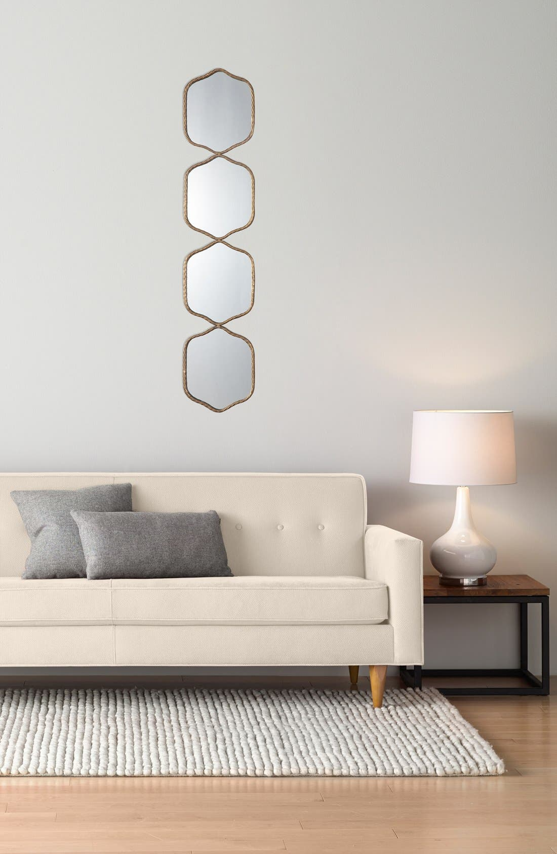 'Myriam' Wall Mirror,                             Alternate thumbnail 3, color,                             Metallic Gold