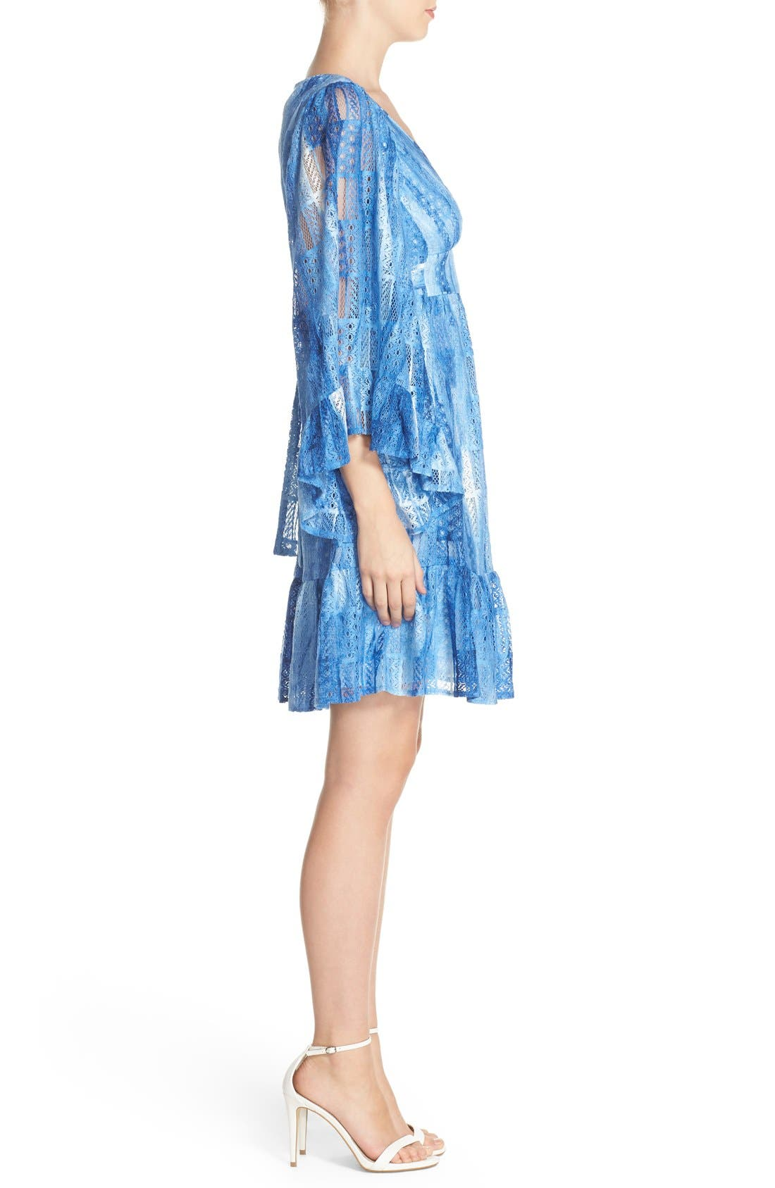 Alternate Image 3  - Betsey Johnson Cotton Blend Babydoll Dress