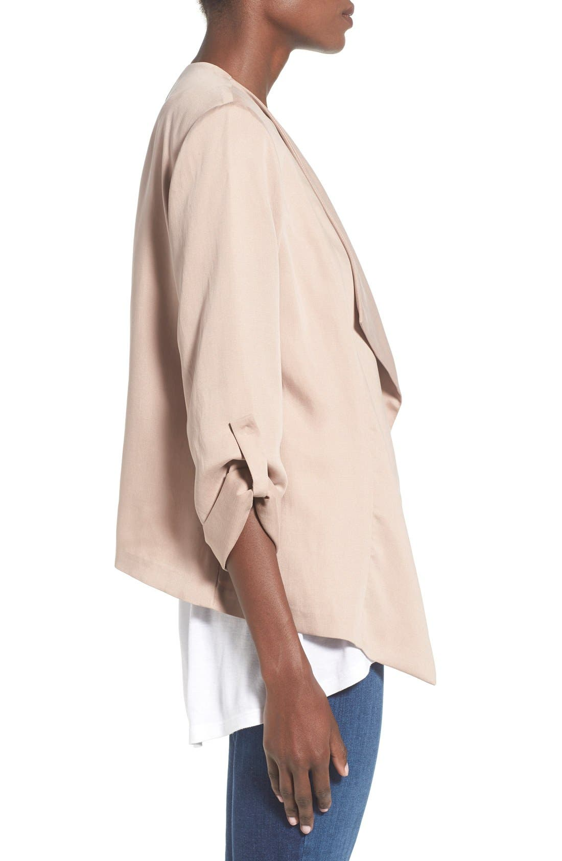 Alternate Image 4  - ASTR Drape Front Jacket