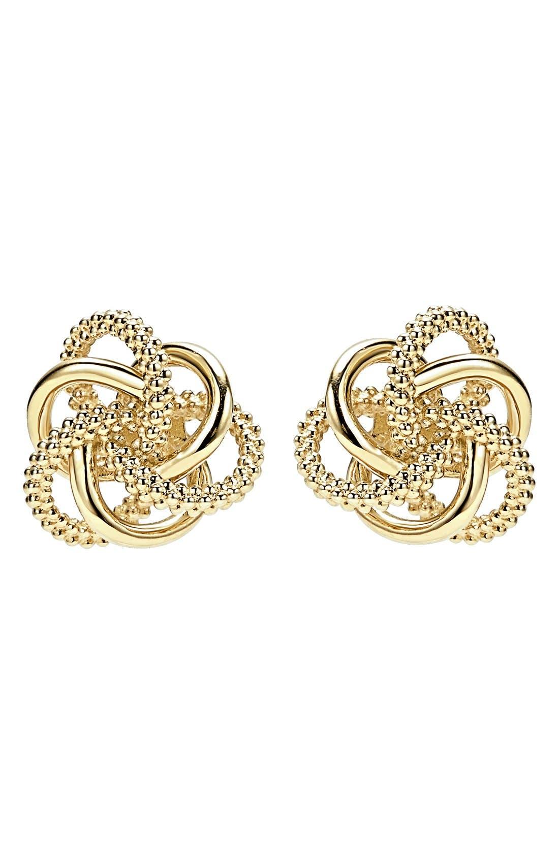 Alternate Image 2  - LAGOS 'Love Knot' 18k Gold Stud Earrings