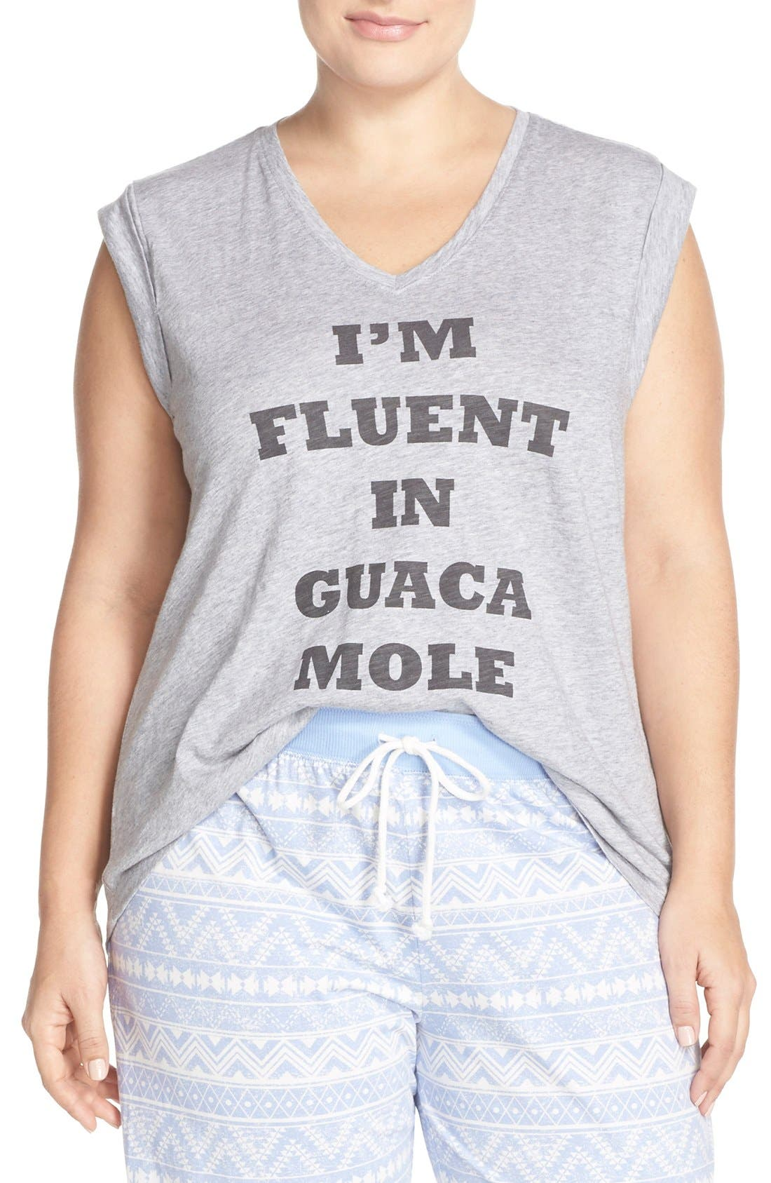 Alternate Image 1 Selected - COZY ZOE 'I'm Fluent In Guacamole' Graphic Tee (Plus Size)