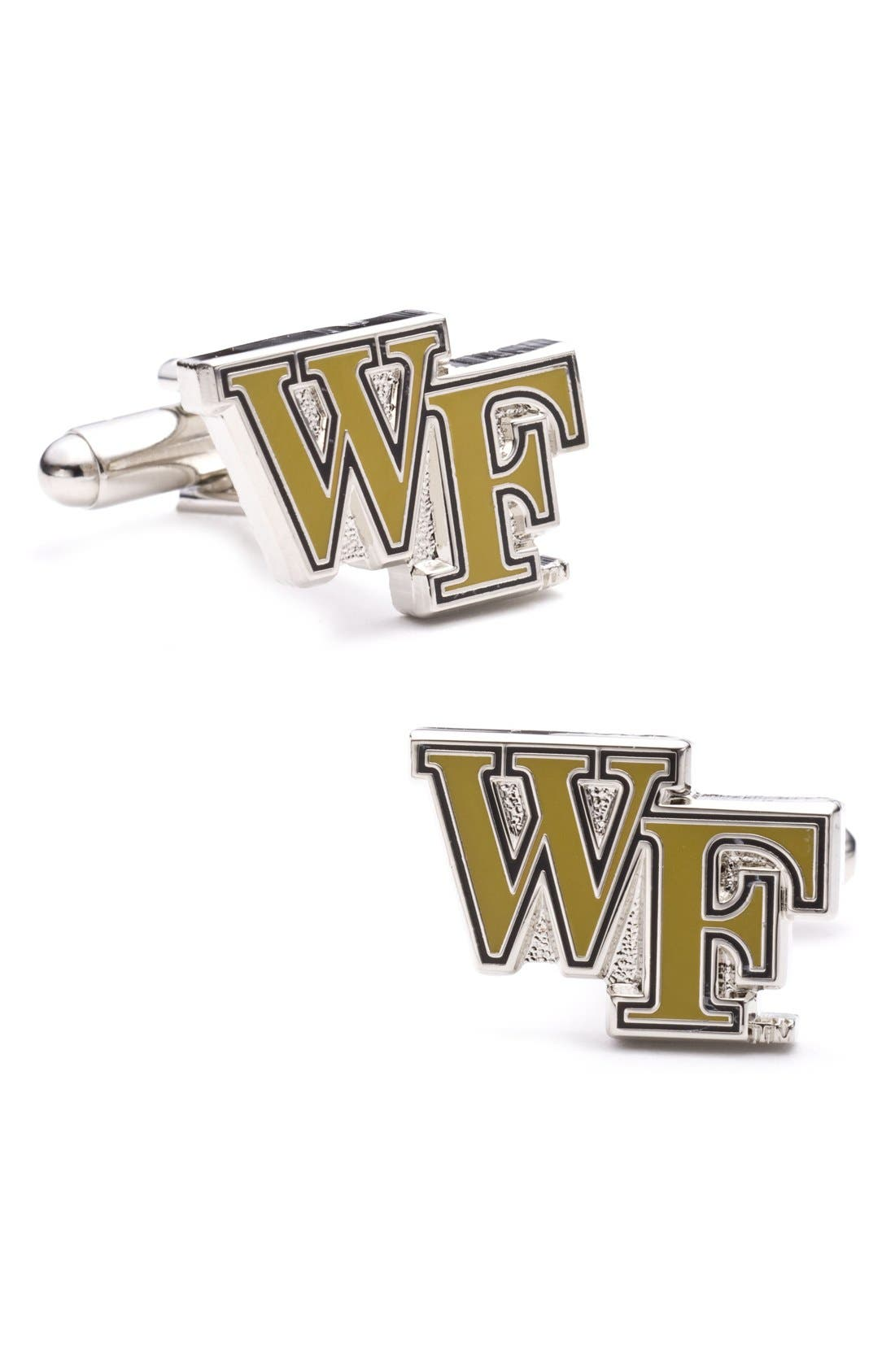 'Wake Forest Demon Deacons' Cuff Links,                         Main,                         color, Yellow