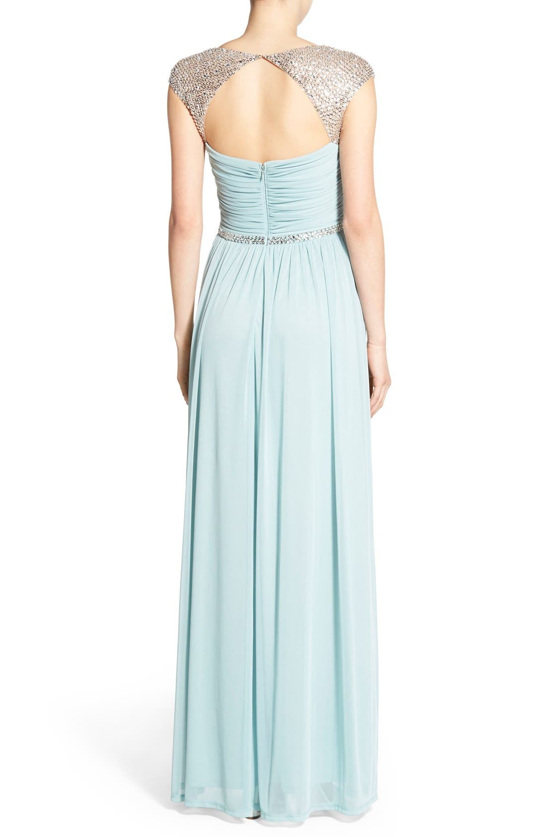 Alternate Image 2  - Adrianna Papell Embellished Ruched Jersey Gown