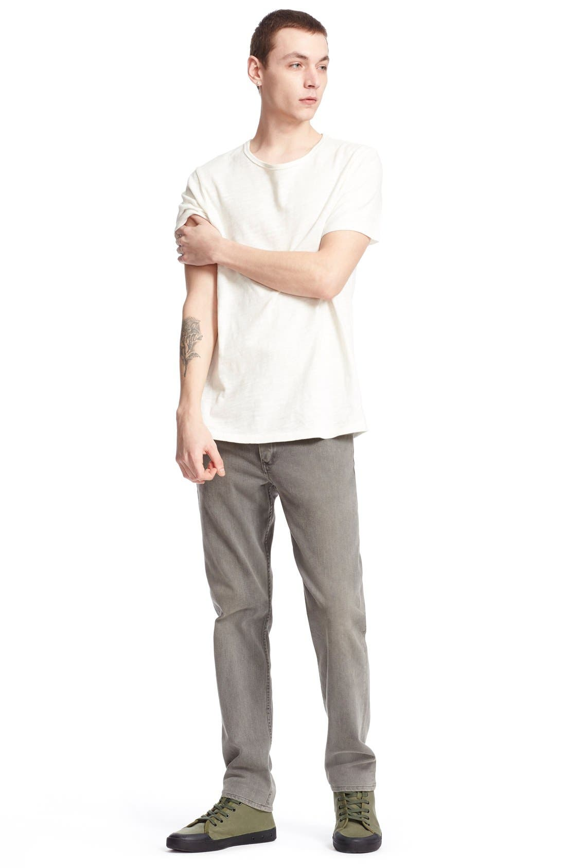 Alternate Image 6  - rag & bone Standard Issue Slubbed Cotton T-Shirt