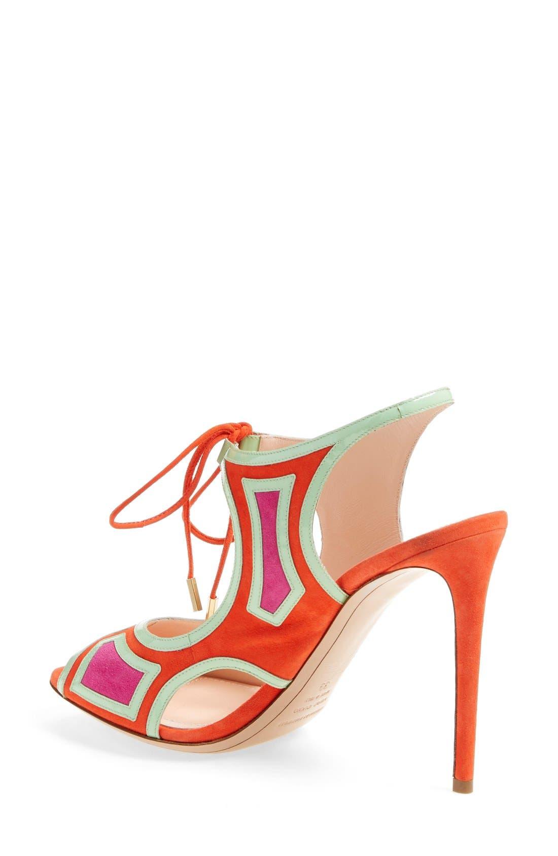 Alternate Image 2  - Nicholas Kirkwood 'Outliner' Lace-Up Sandal (Women)