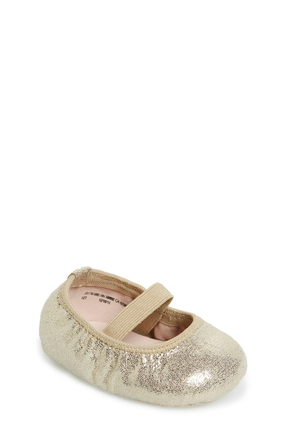 'Josie' Crib Shoe,                         Main,                         color, Gold