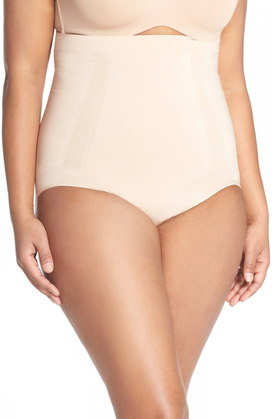 OnCore High Waist Briefs,                             Main thumbnail 1, color,                             Soft Nude