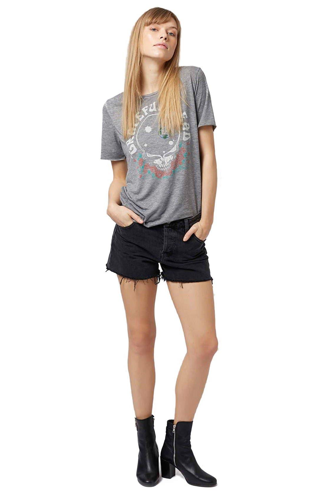 Alternate Image 2  - Topshop 'Ashley' Black Denim Cutoff Shorts