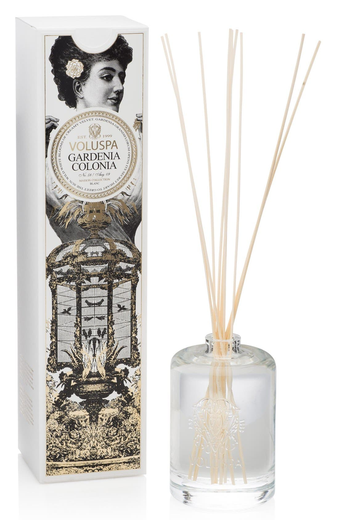 Maison Blanc Gardenia Colonia Fragrant Oil Diffuser,                         Main,                         color, No Color