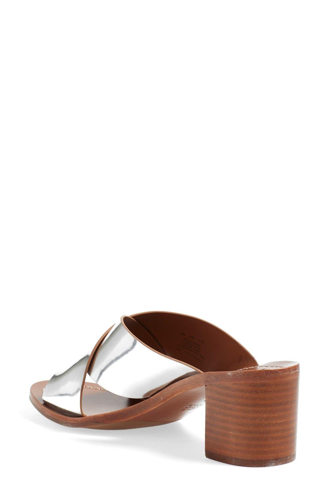 'Montrose' Sandal,                             Alternate thumbnail 2, color,                             Silver Dress Mirror
