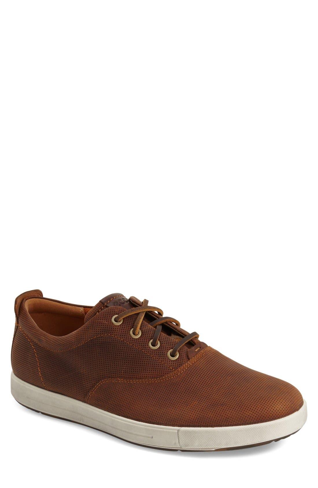 'Eisner' Sneaker,                         Main,                         color, Amber/ Mink Leather