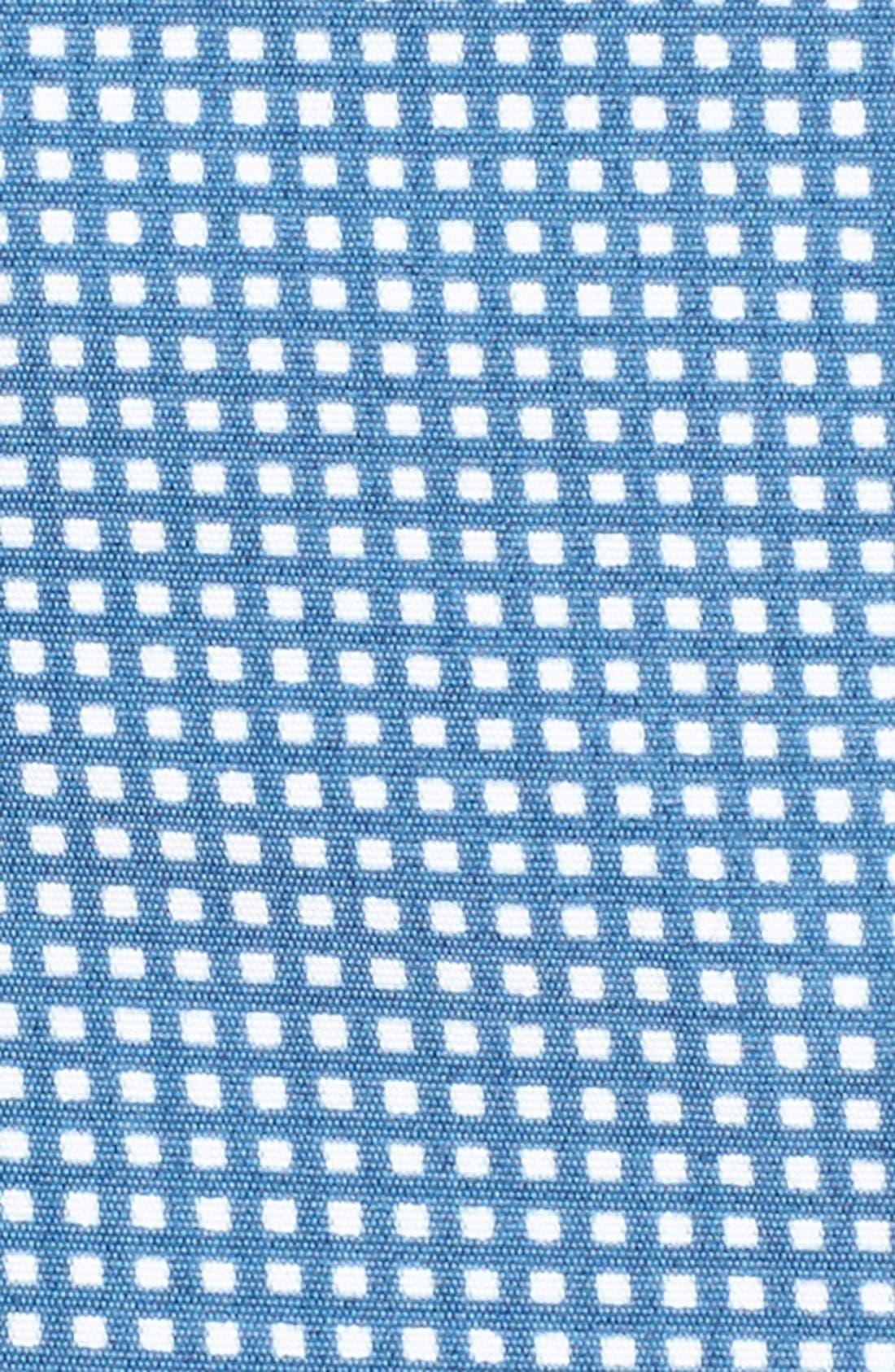 Aruba Tailored Fit Microcheck Swim Trunks,                             Alternate thumbnail 5, color,                             Micro Square Ash Blue
