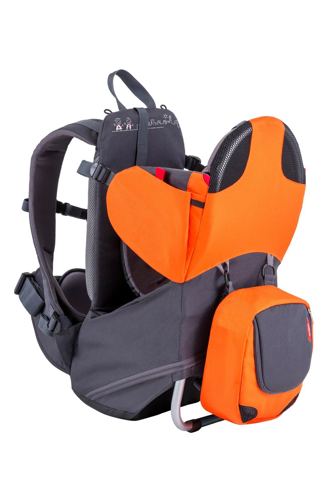 'Parade' Backpack Carrier,                             Main thumbnail 1, color,                             Orange/ Grey