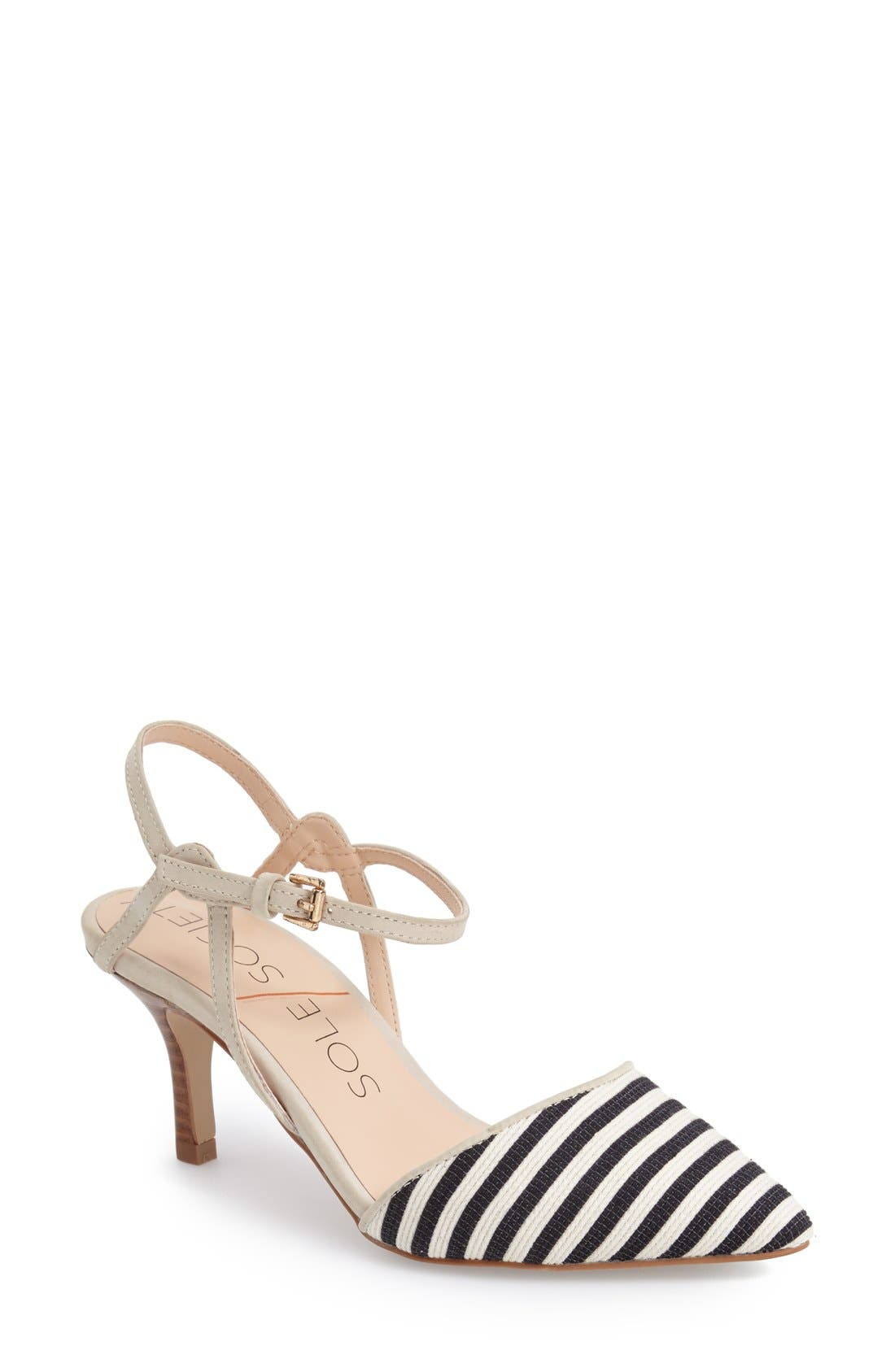 Main Image - Sole Society 'Rima' Ankle Strap Pump (Women)