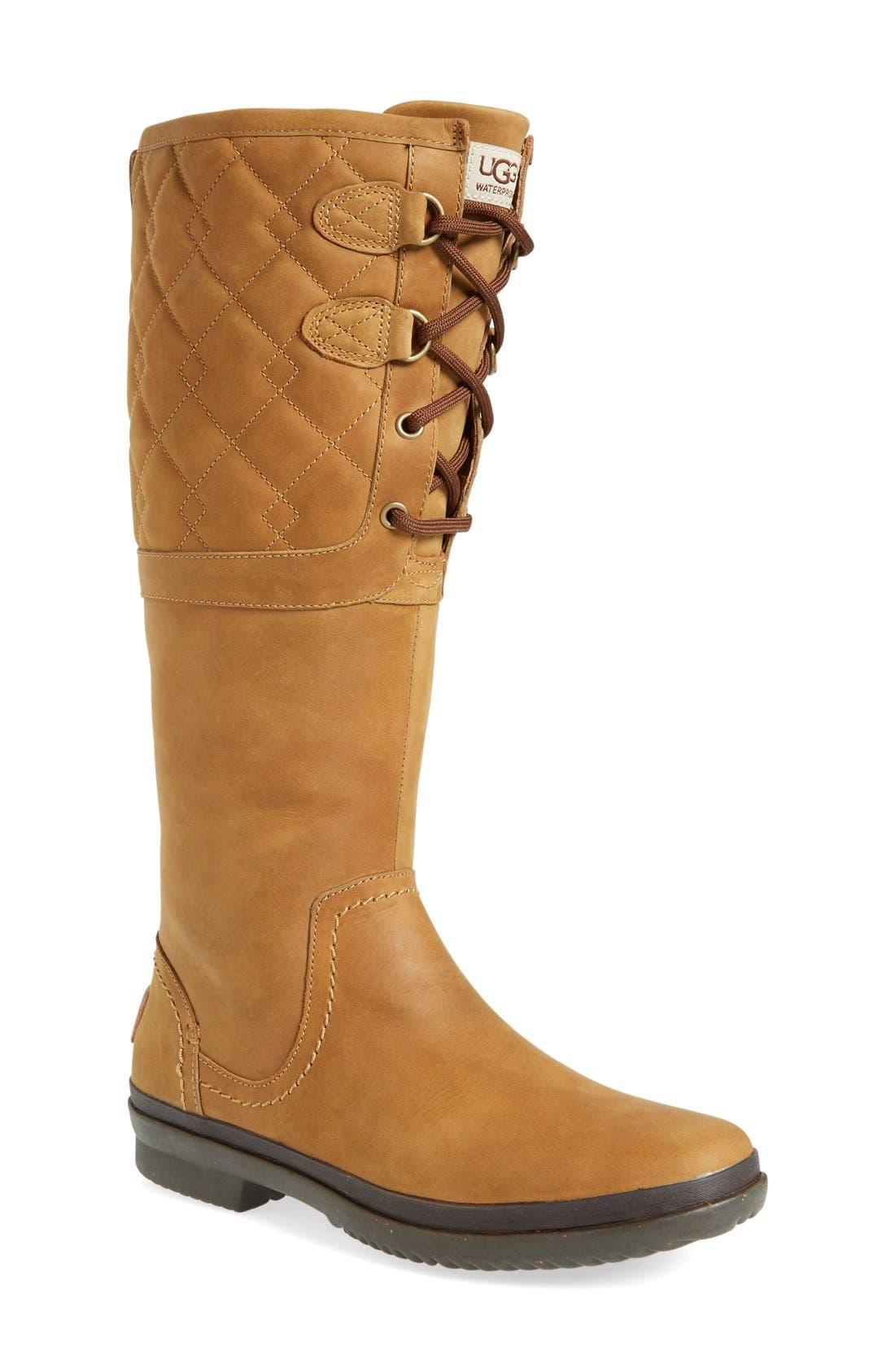 Alternate Image 1 Selected - UGG® Elsa Quilted Waterproof Boot (Women)