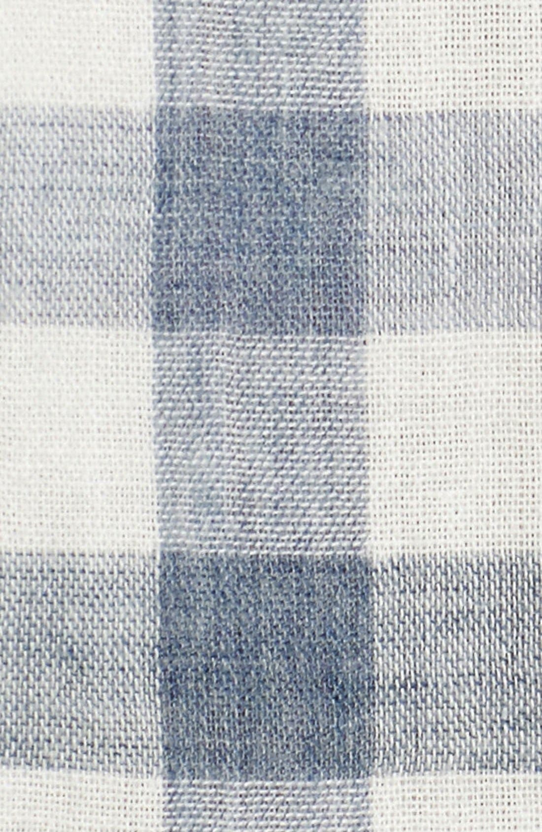 'Denby' Trim Fit Double Woven Sport Shirt,                             Alternate thumbnail 5, color,                             Heather Blue/ Cream Gingham