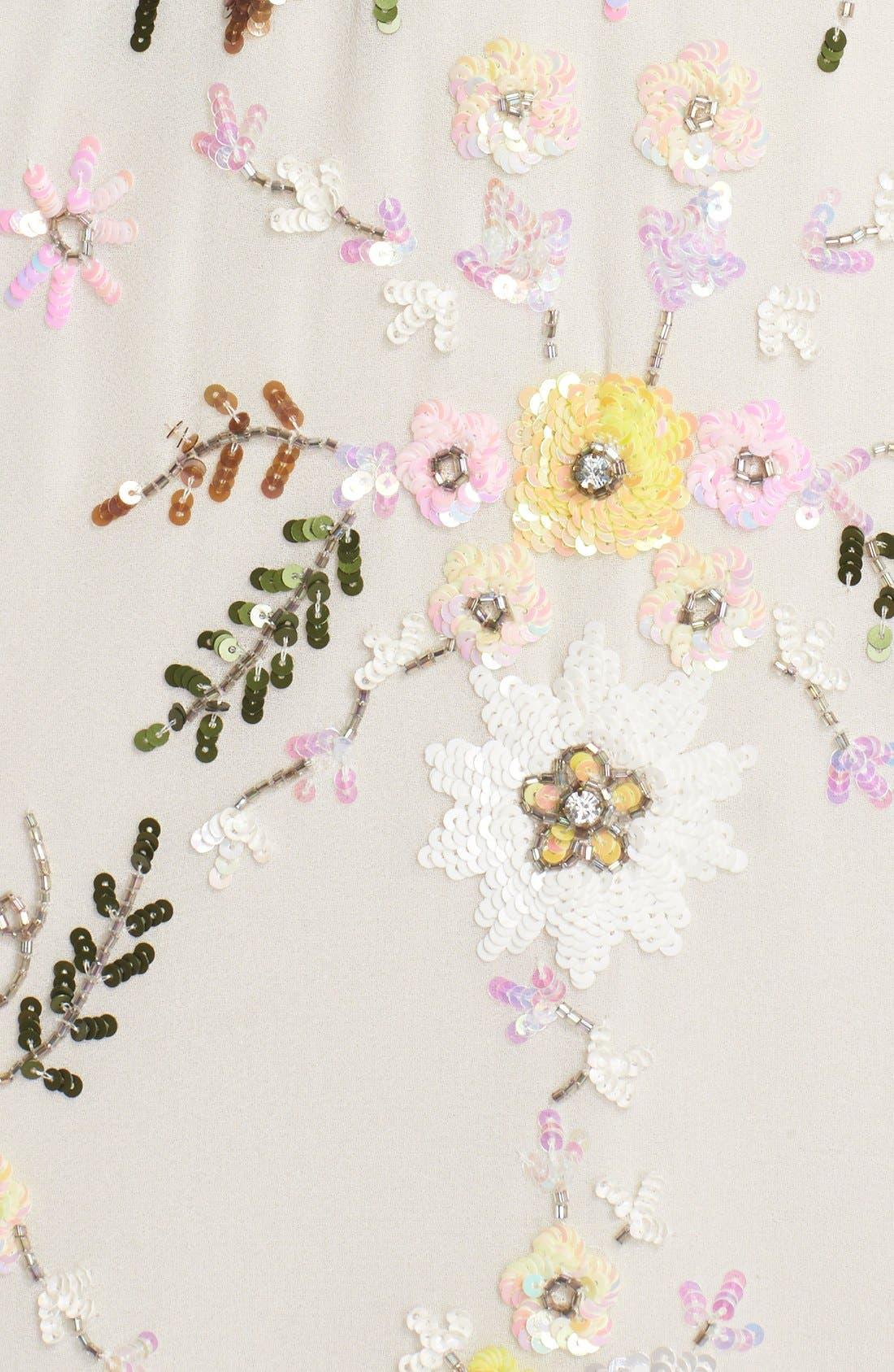 Alternate Image 5  - Needle & Thread 'Sunflower' Embellished Chiffon Mermaid Gown