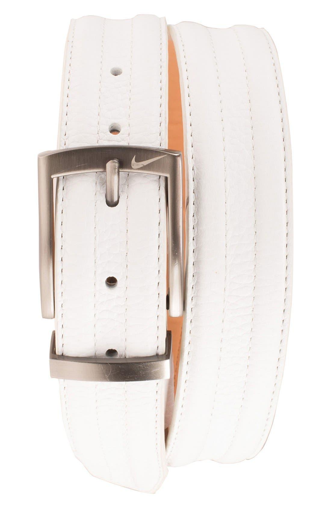 NIKE Golf G-Flex Tripunto Leather Belt