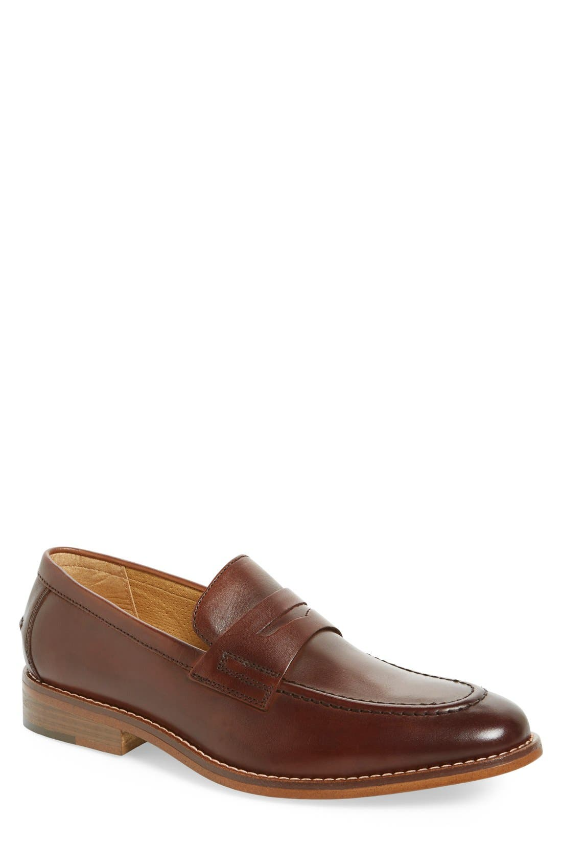 'Conner' Penny Loafer,                             Main thumbnail 1, color,                             British Tan Leather
