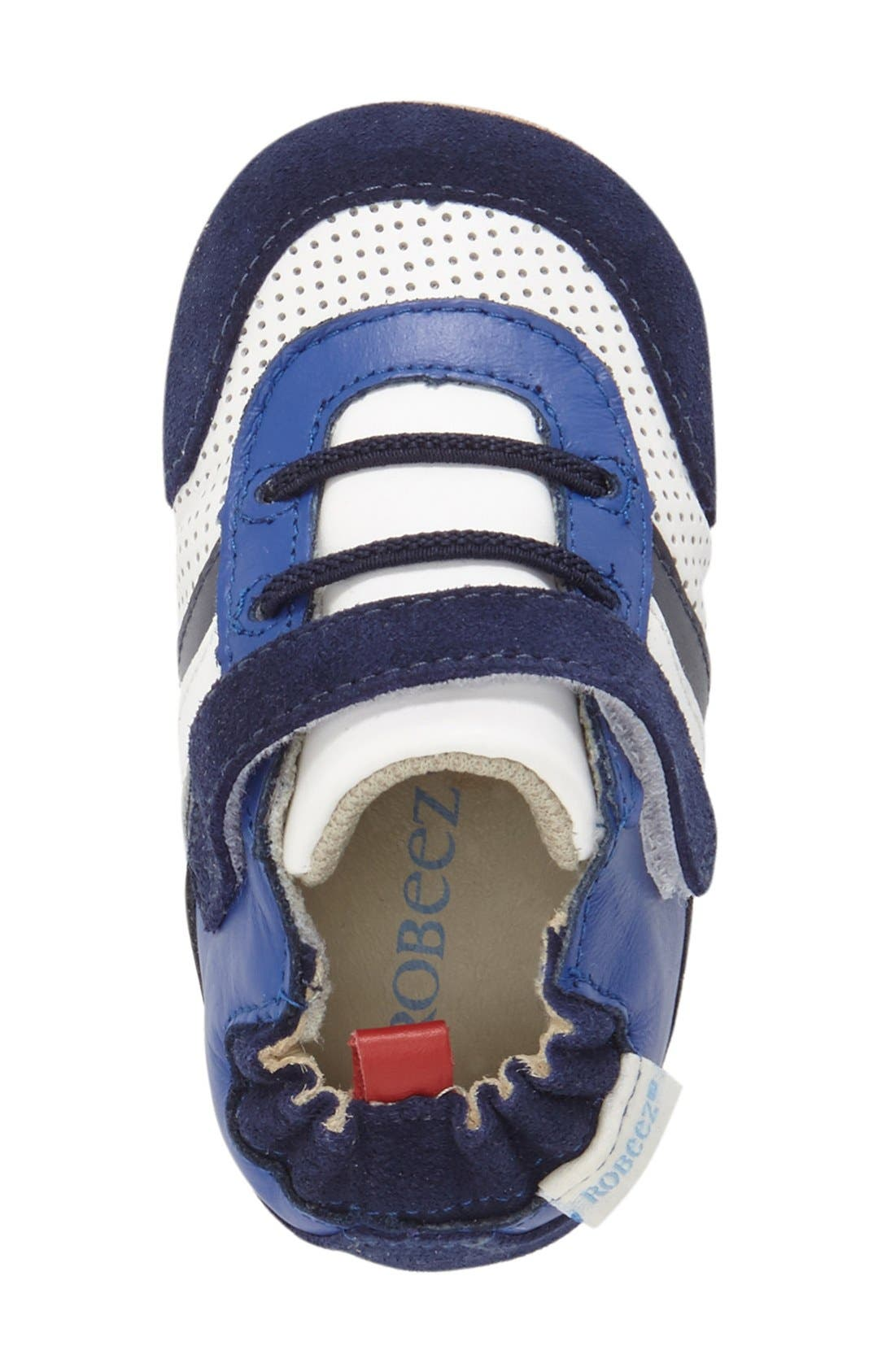 'Everyday Ethan' Crib Shoe,                             Alternate thumbnail 3, color,                             Blue