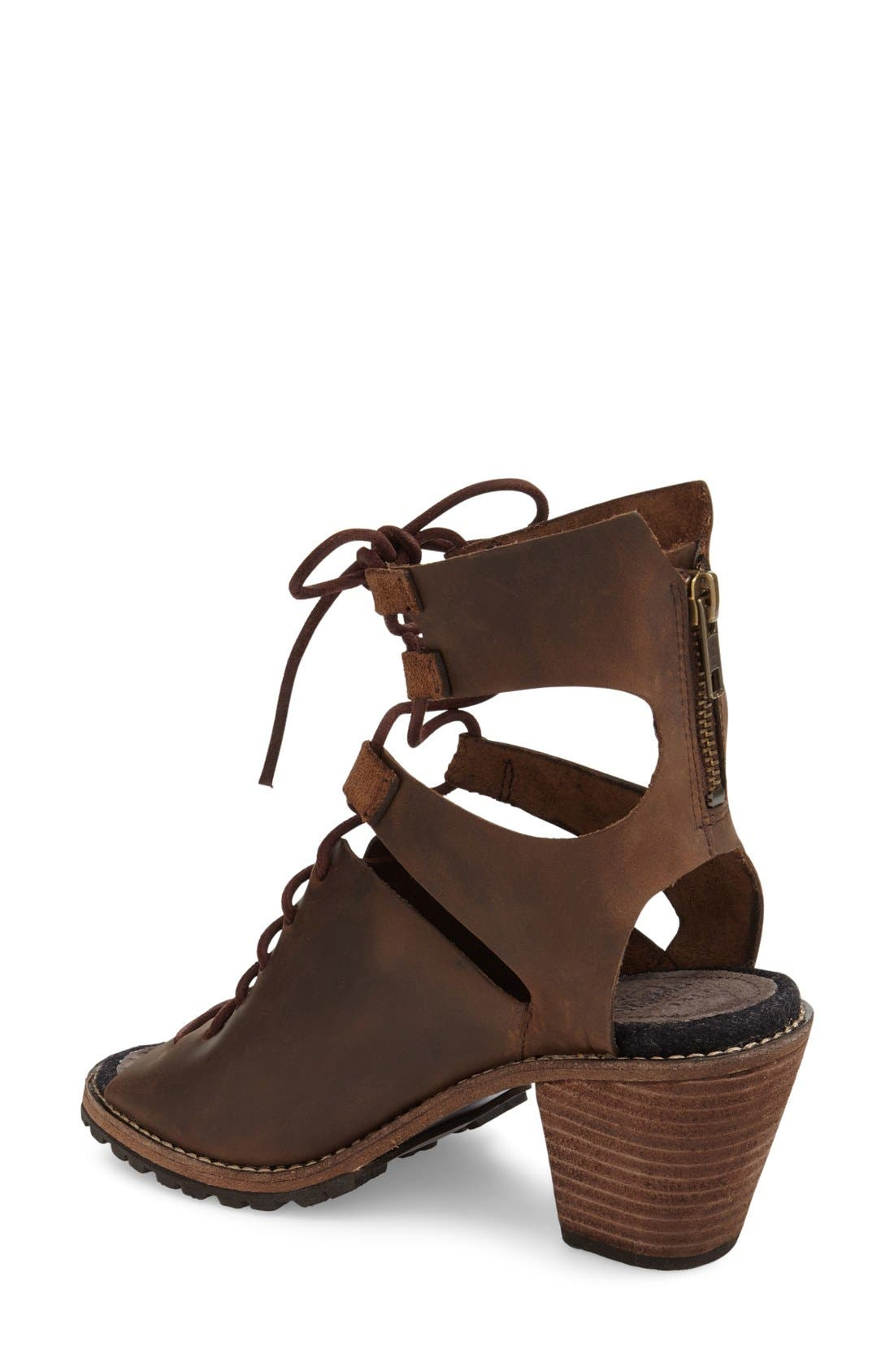 'Mohave Arroyo' Lace-Up Boot,                             Alternate thumbnail 2, color,                             Bitter Chocolate Leather