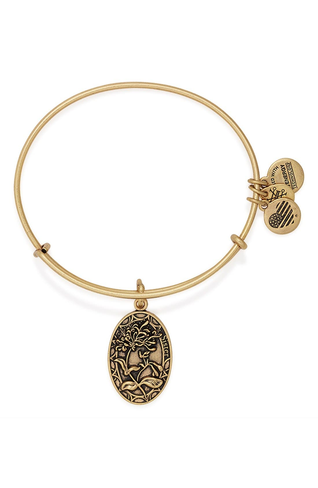 Alex and Ani 'I Love You Sister' Expandable Wire Bangle