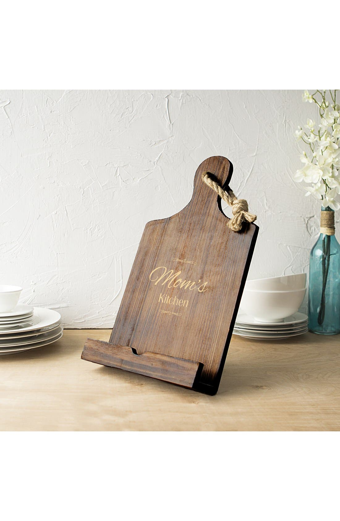 'Mother's Day' Wooden Tablet/Book Stand,                         Main,                         color, Brown
