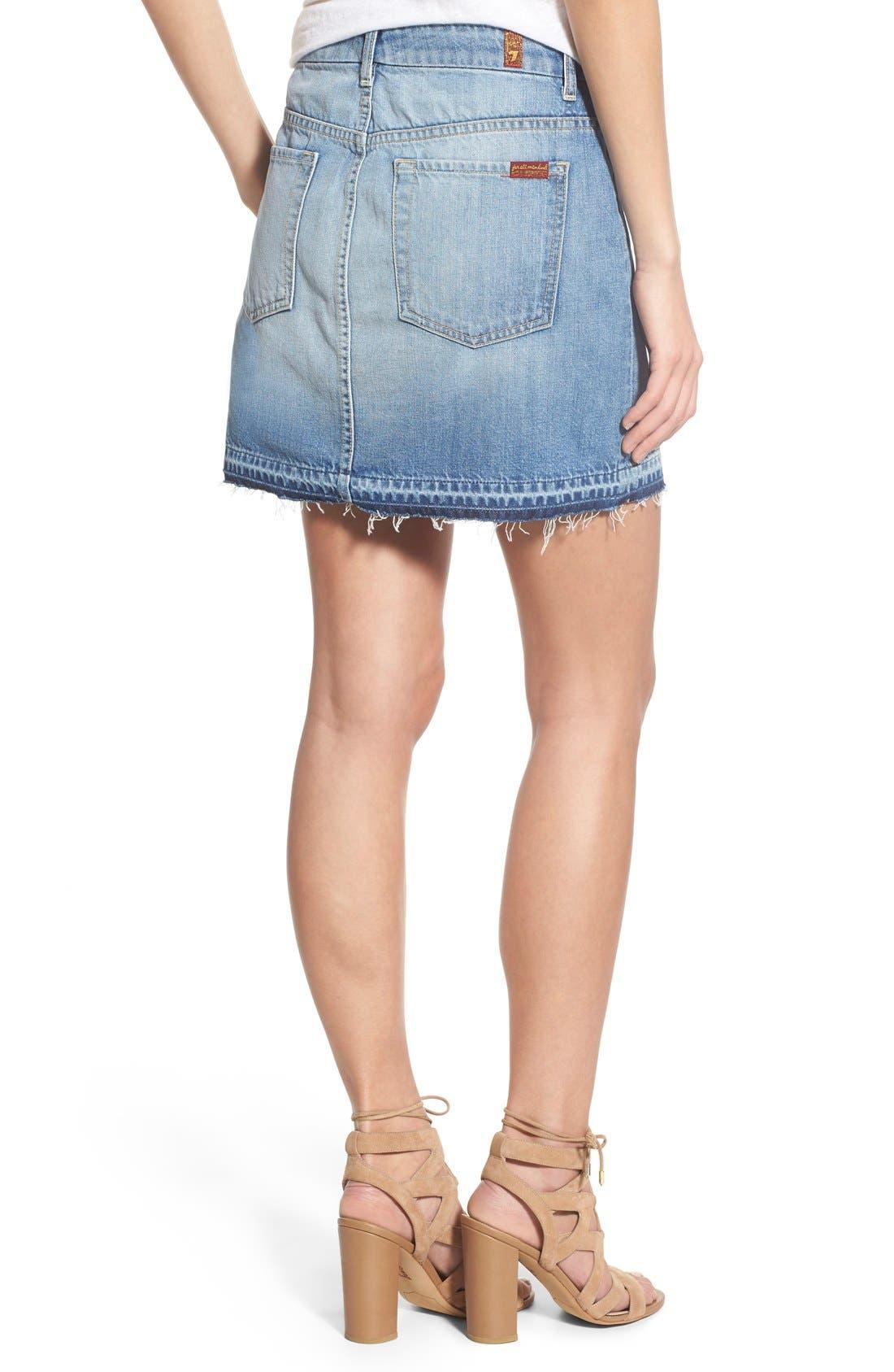 Alternate Image 2  - 7 For All Mankind® Utility Pocket Denim Miniskirt (Vintage Coronado Springs)