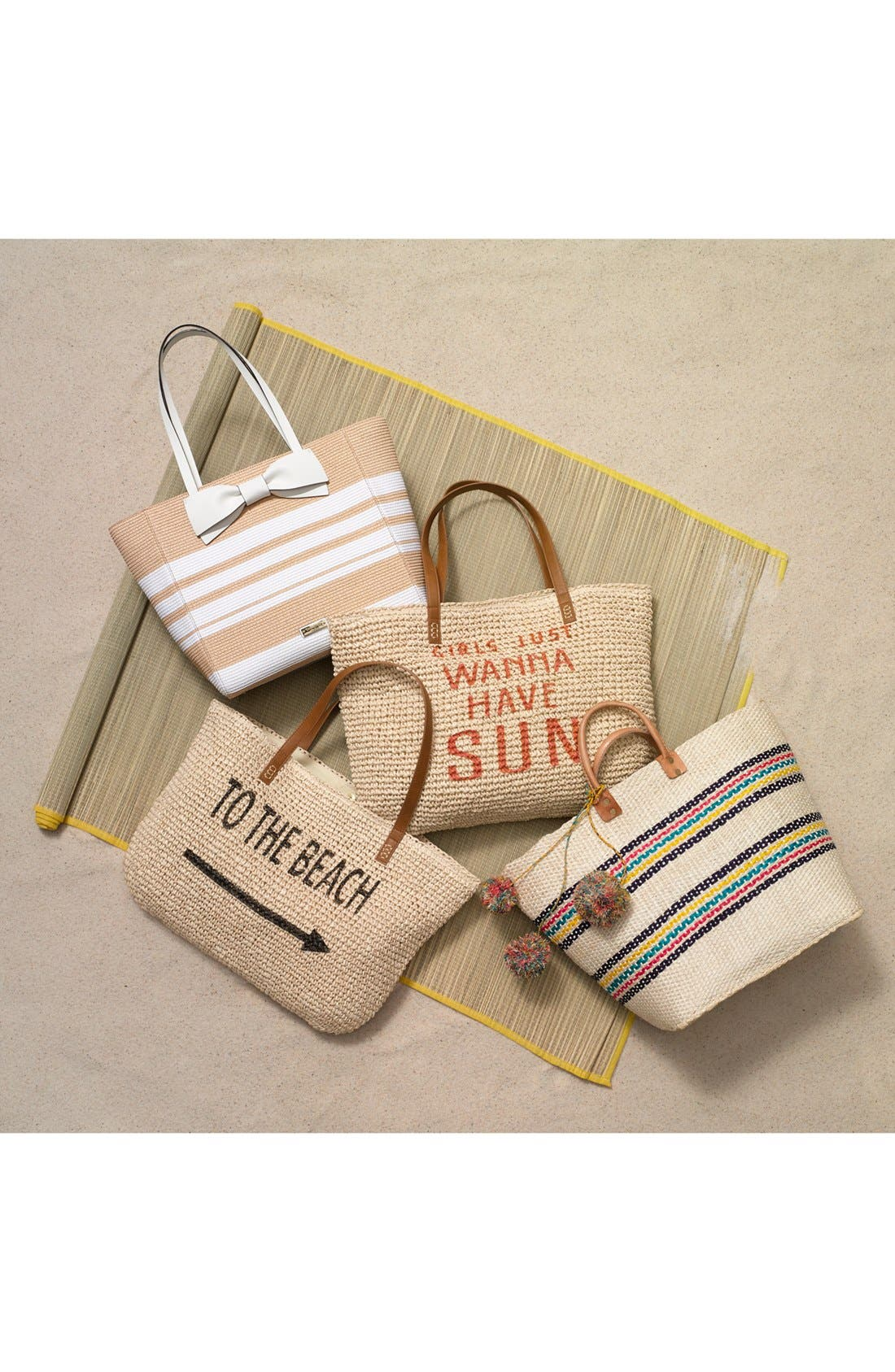 Alternate Image 7  - kate spade new york 'clement street - blair' woven straw tote