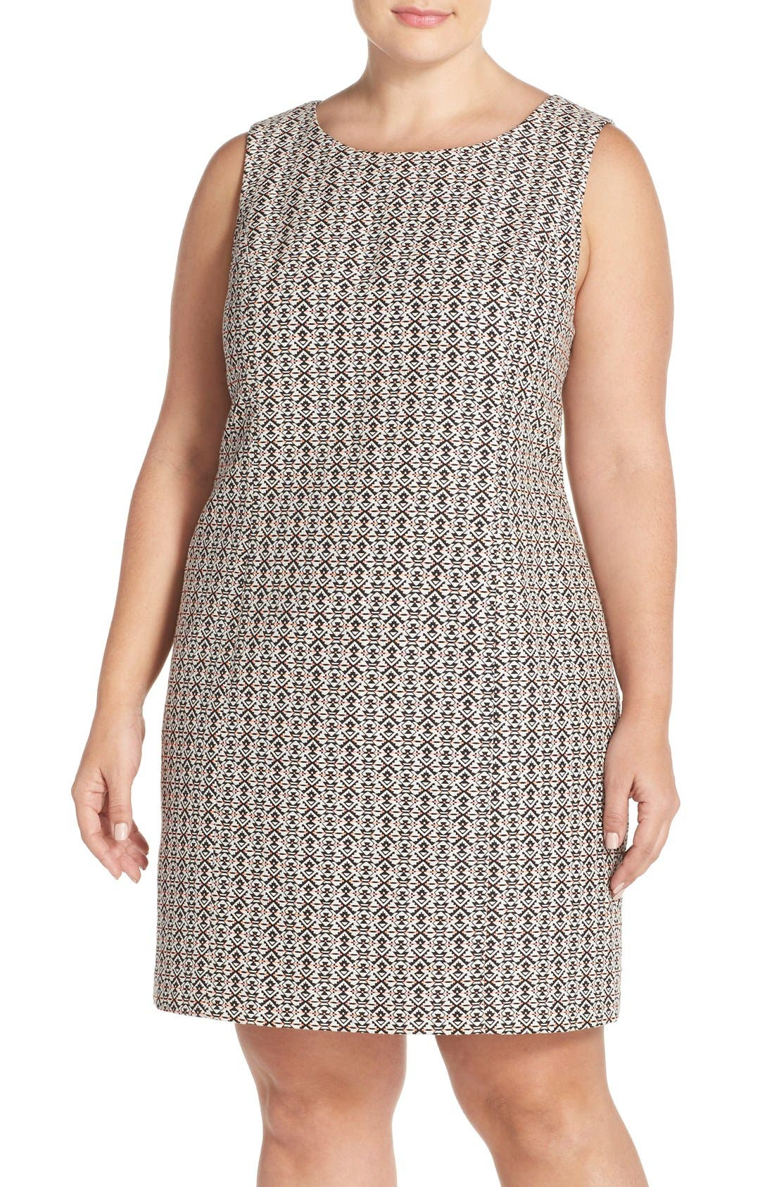 Tart 'Dinah' Print Sleeveless Sheath Dress (Plus Size)