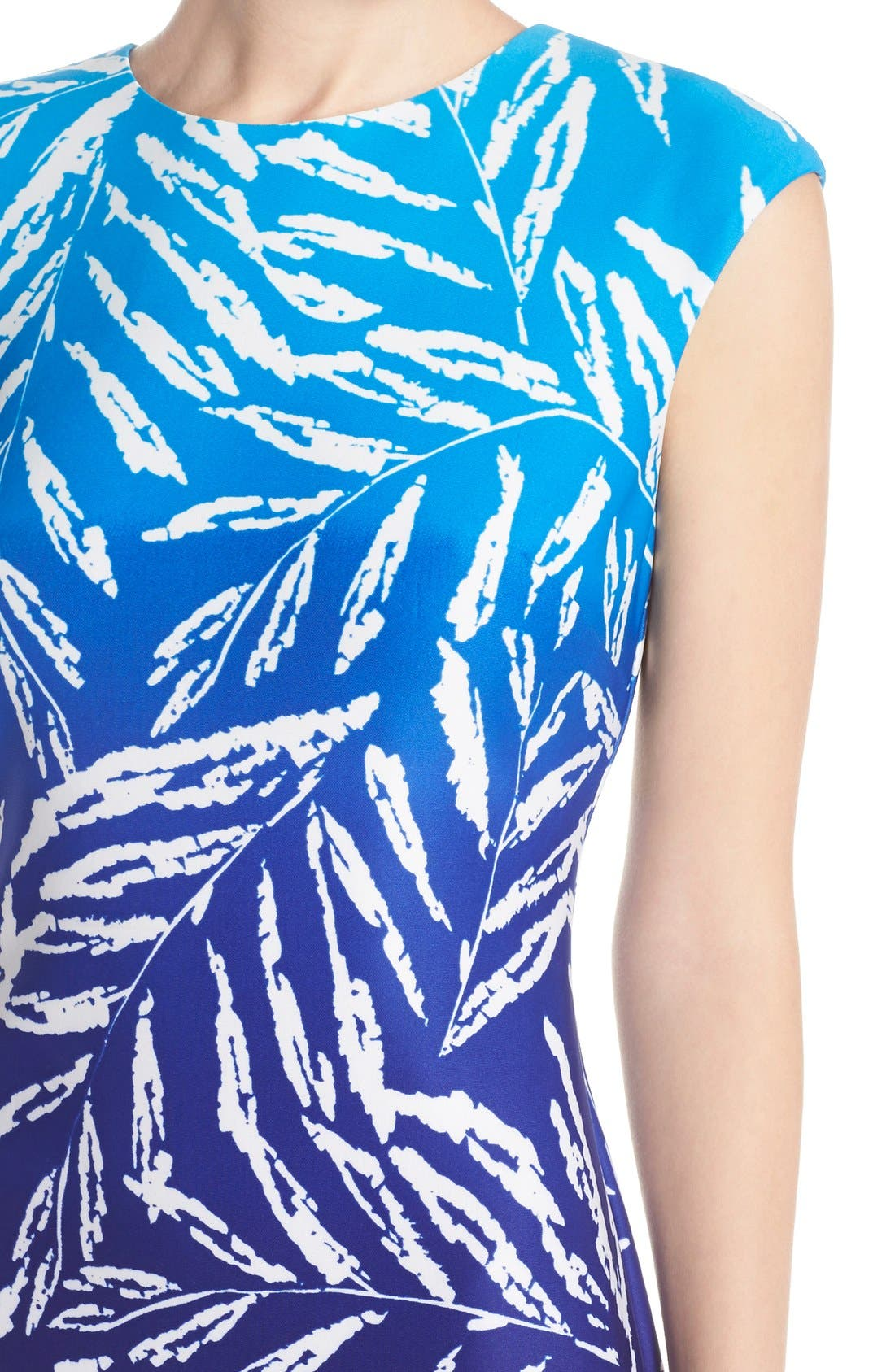 Alternate Image 4  - Vince Camuto Ombré Print Stretch Scuba Midi Dress