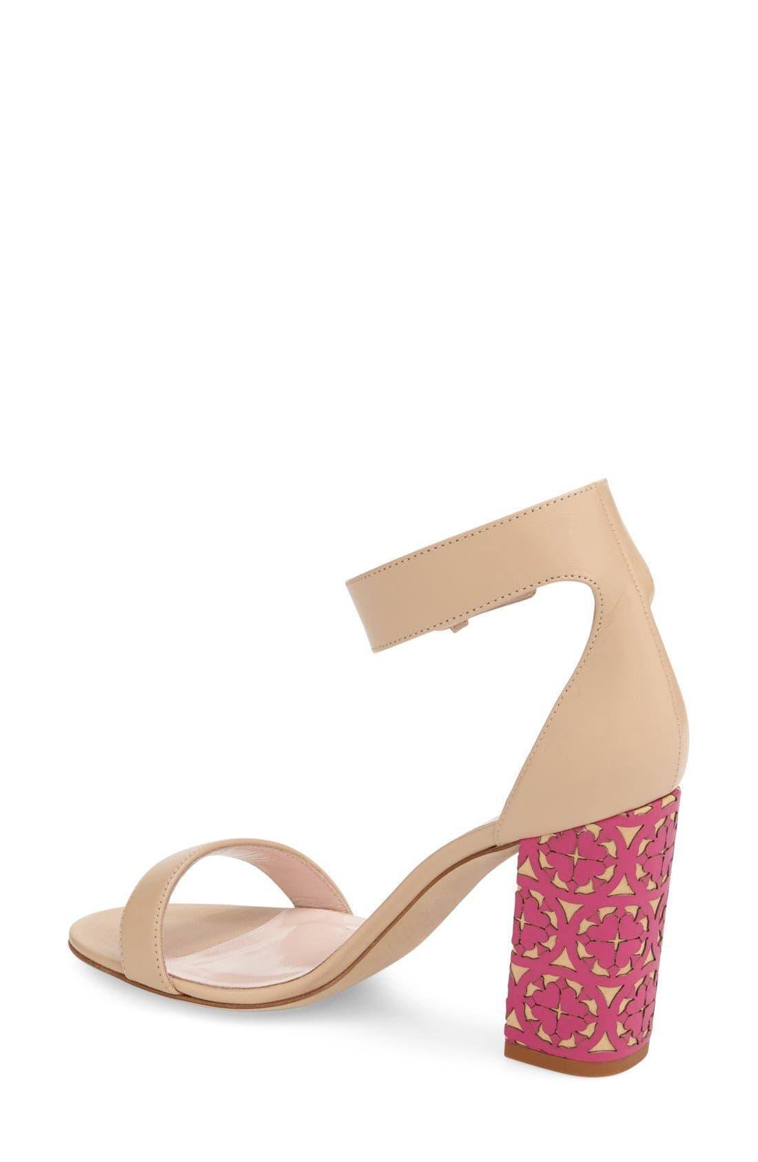 Alternate Image 2  - kate spade new york 'idelle' ankle strap block heel sandal (Women)