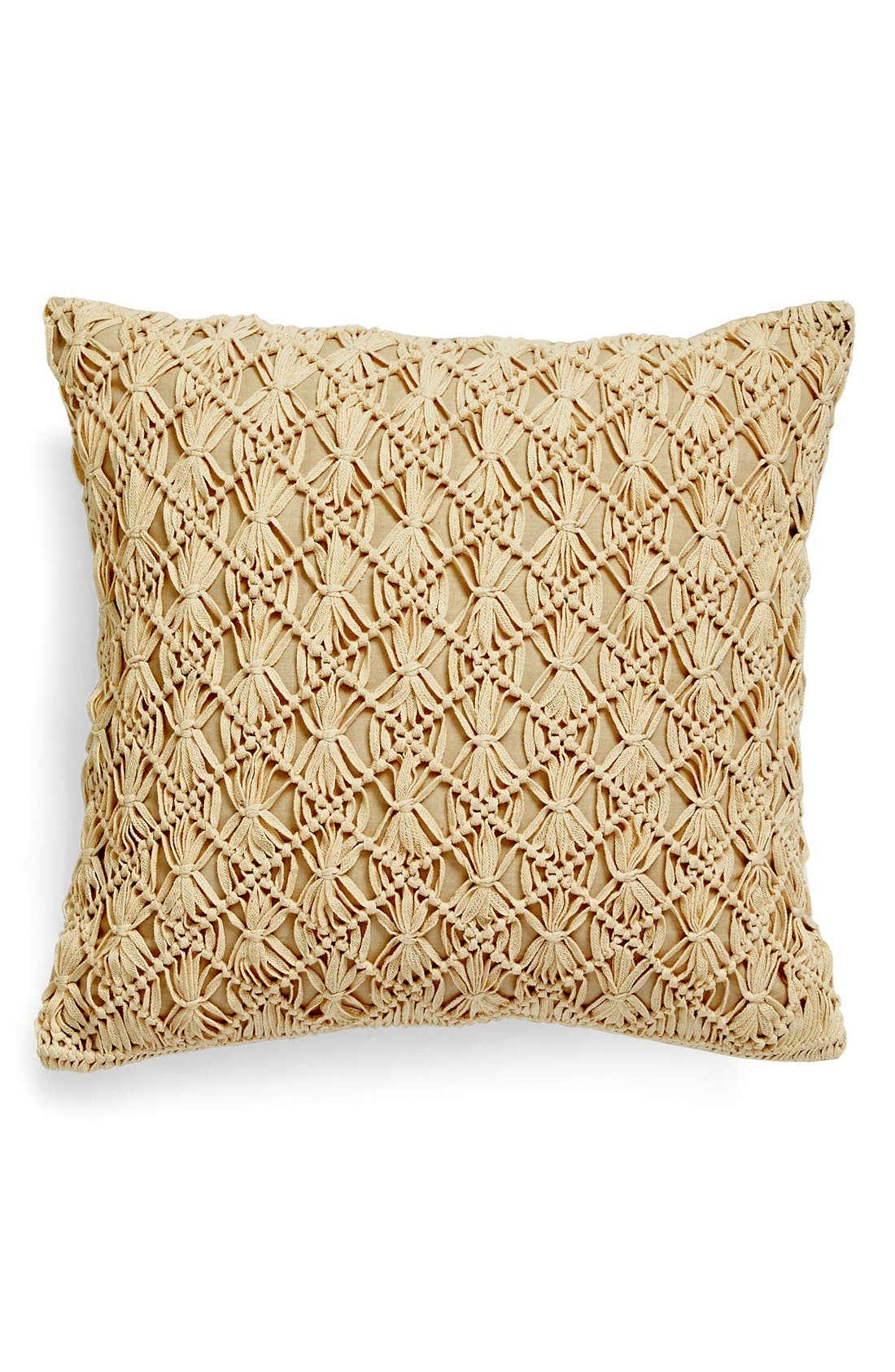 Alternate Image 1 Selected - Nordstrom at Home Macramé Pillow