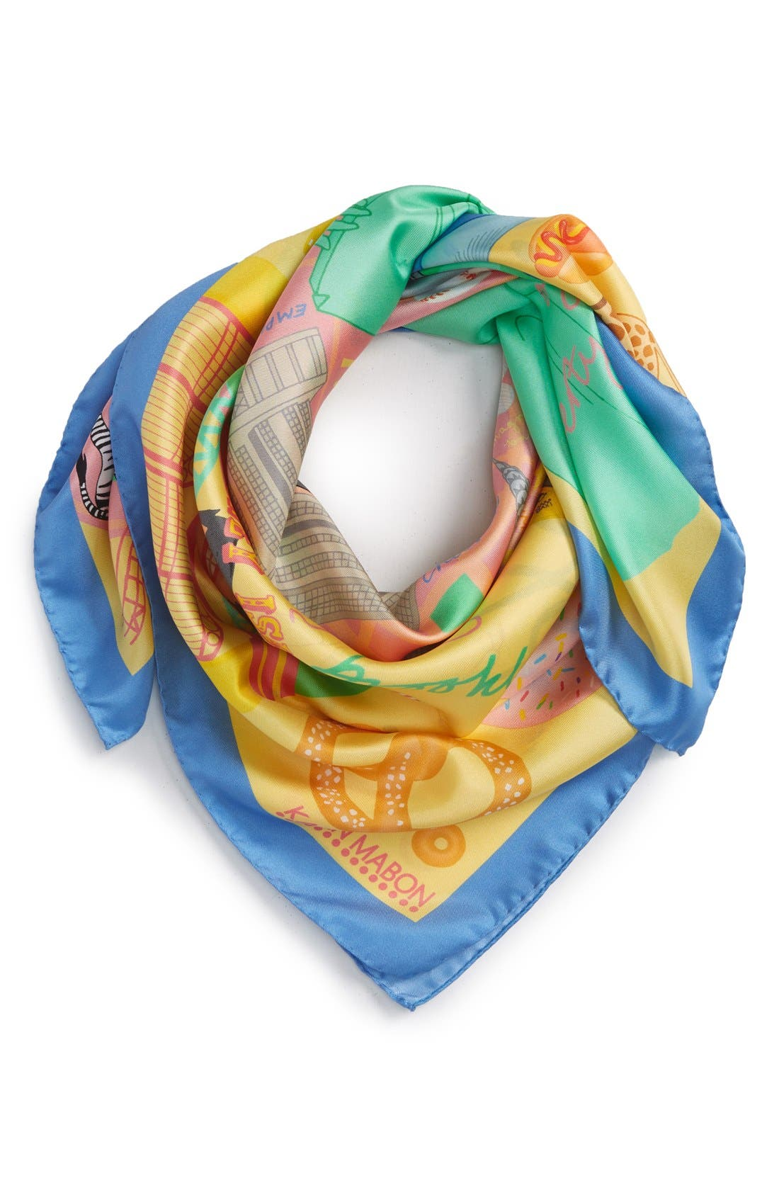 Alternate Image 1 Selected - Karen Mabon 'New York, New York' Silk Square Scarf