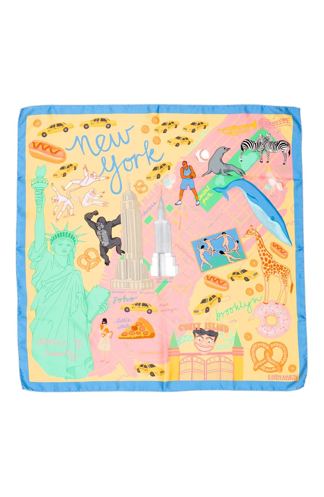 Alternate Image 2  - Karen Mabon 'New York, New York' Silk Square Scarf