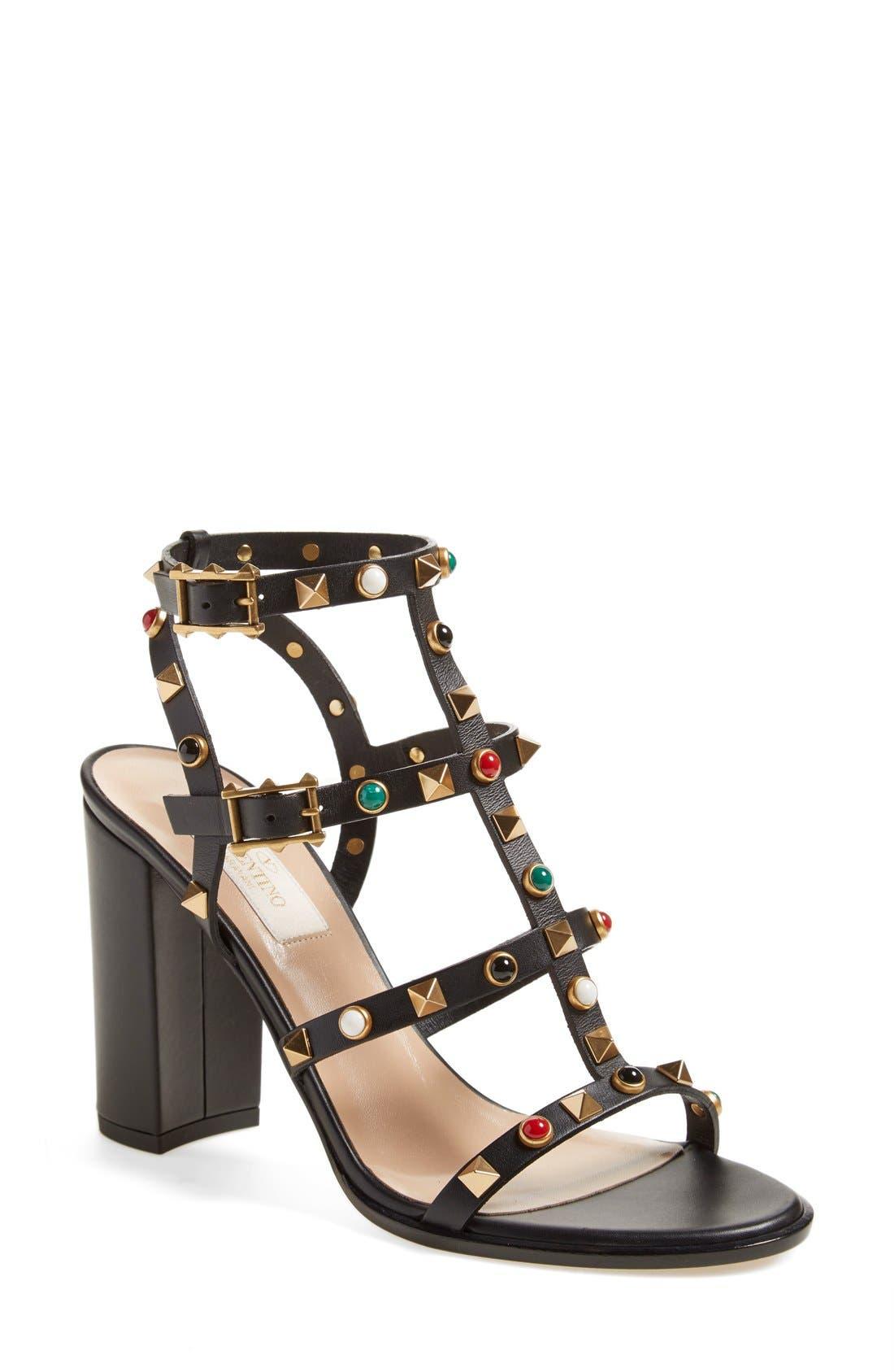 Main Image - Valentino 'Vitello' Studded Sandal (Women)