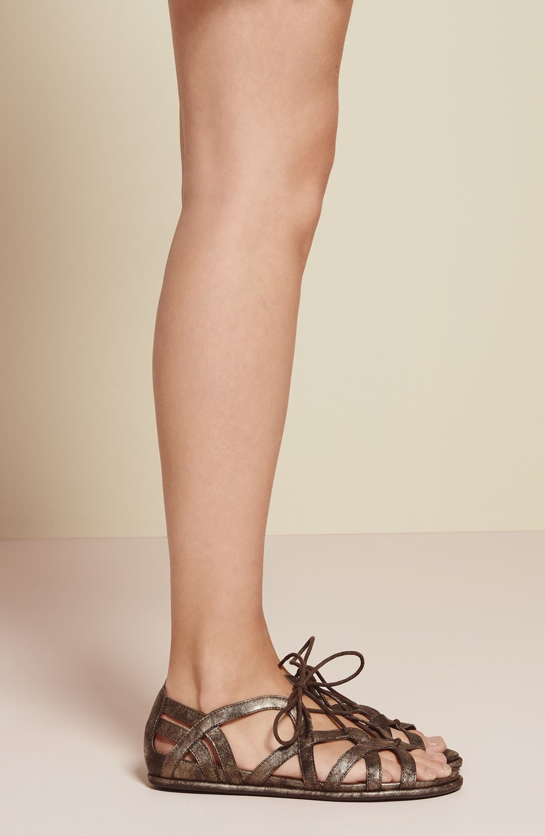 'Orly' Lace-Up Sandal,                             Alternate thumbnail 3, color,