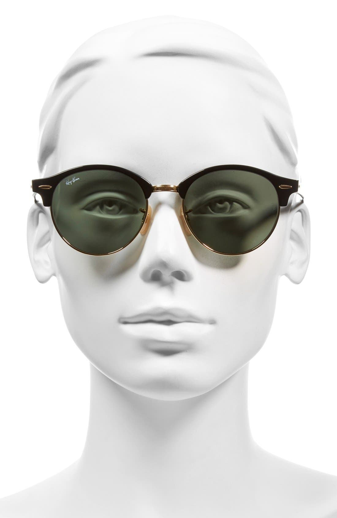 Alternate Image 2  - Ray-Ban Clubround 51mm Round Sunglasses